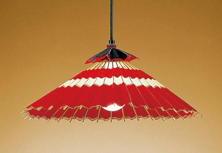 【最安値挑戦中!最大25倍】オーデリック OP052017ND 和風照明 LED電球ボール球形12.2W 昼白色 非調光 引掛シーリング 竹 和紙赤色
