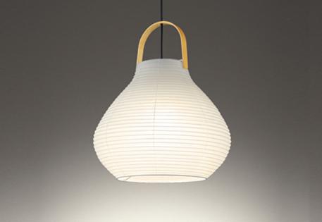 【最安値挑戦中!最大25倍】オーデリック OP252473LD(ランプ別梱包) 和風ペンダントライト LED電球色 非調光