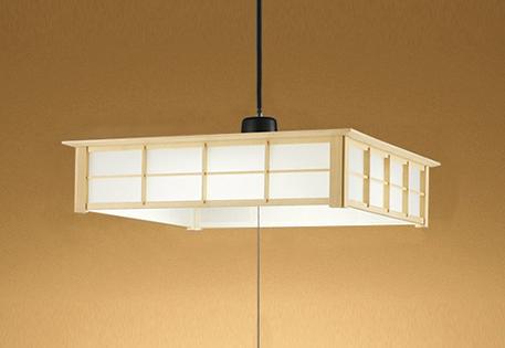 【最安値挑戦中!最大25倍】オーデリック OP252505L 和風ペンダントライト LED一体型 電球色 段調光 白木 ~6畳