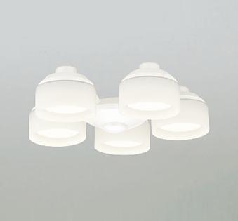 【最安値挑戦中!最大25倍】オーデリック WF265LC(ランプ別梱) シーリングファン 灯具(乳白ケシガラス・5灯) LED電球フラット形 電球色 ~6畳