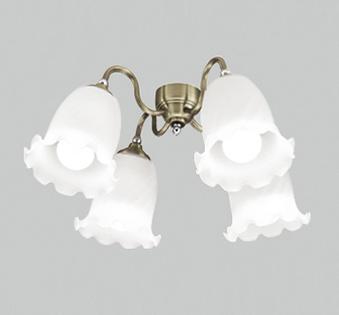 【最安値挑戦中!最大25倍】オーデリック WF687NC(ランプ別梱) シーリングファン 灯具(ケシガラスグローブ・4灯) LED電球一般形 昼白色 ~10畳