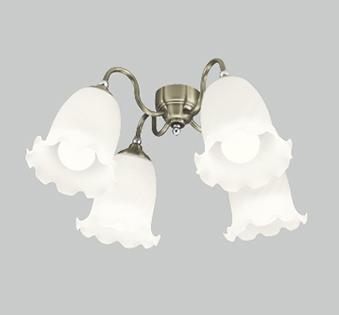 【最安値挑戦中!最大25倍】オーデリック WF687PC(ランプ別梱) シーリングファン 灯具(ケシガラスグローブ・4灯) LED電球一般形 ~10畳