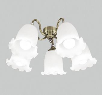 【最安値挑戦中!最大25倍】オーデリック WF688NC(ランプ別梱) シーリングファン 灯具(ケシガラスグローブ・5灯) LED電球一般形 昼白色 ~10畳