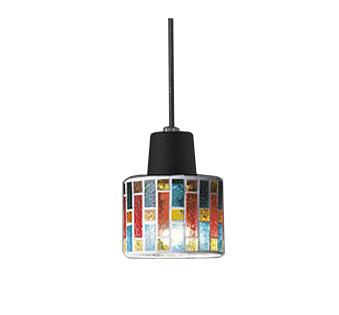 【最安値挑戦中!最大25倍】オーデリック OP034445ND ペンダント LED電球ミニクリプトン形5W 昼白色 非調光 プラグタイプ モザイクガラス・黒