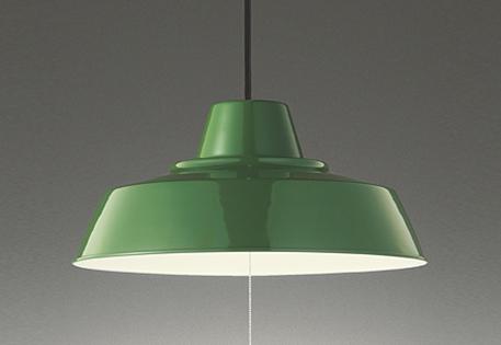 【最安値挑戦中!最大25倍】オーデリック OP252373 ペンダント LED一体型 電球色 ~8畳 段調光 引掛シーリング グリーン