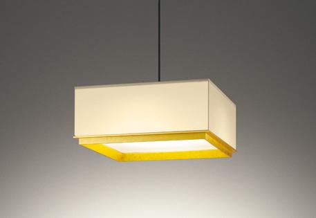【最安値挑戦中!最大25倍】オーデリック OP252585 ペンダントライト LED一体型 非調光 電球色 金箔貼り ホワイト ~8畳