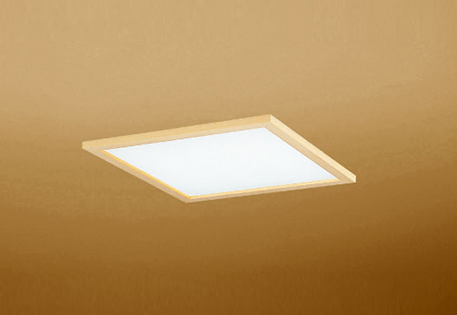 【最安値挑戦中!最大25倍】オーデリック OD301208P2B(LED光源ユニット別梱) 和風シーリングライト LED一体型 非調光 昼白色 埋込穴□450 白木