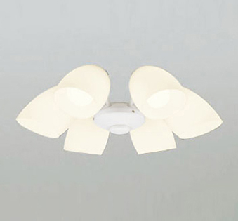【最安値挑戦中!最大25倍】オーデリック WF805LC1(ランプ別梱) シーリングファン LEDランプ 連続調光 電球色 乳白ケシガラス・6灯 オフホワイト ~8畳