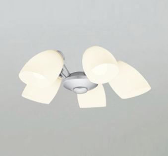 【最安値挑戦中!最大25倍】オーデリック WF806LC1(ランプ別梱) シーリングファン LEDランプ 連続調光 電球色 乳白ケシガラス・5灯 マットシルバー ~6畳