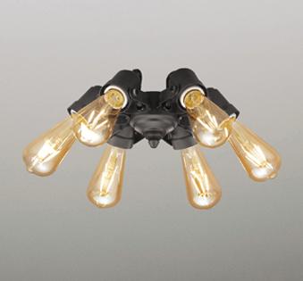 【最安値挑戦中!最大25倍】オーデリック WF834LC(ランプ別梱) シーリングファン LED電球フィラメント形・6灯 連続調光 電球色 オフブラック ~4.5畳