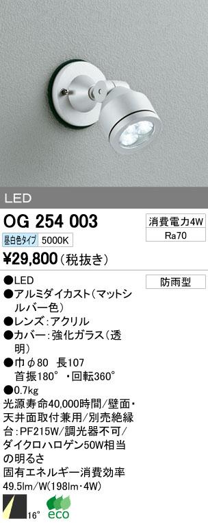 【最安値挑戦中!最大34倍】エクステリアスポットライト オーデリック OG254003 LED 昼白色 [∀(^^)]