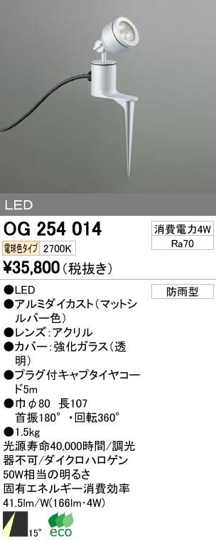 【最安値挑戦中!最大34倍】エクステリアスポットライト オーデリック OG254014 LED 電球色 [∀(^^)]