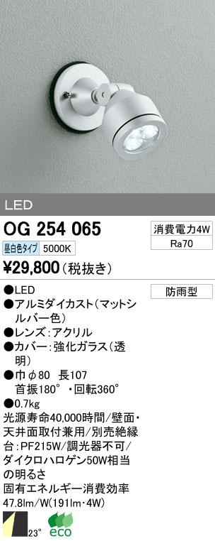 【最安値挑戦中!最大34倍】エクステリアスポットライト オーデリック OG254065 LED 昼白色 [∀(^^)]