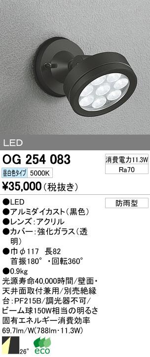 【最安値挑戦中!最大33倍】エクステリアスポットライト オーデリック OG254083 LED 昼白色 [∀(^^)]