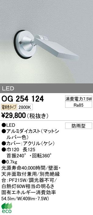 【最安値挑戦中!最大34倍】エクステリアスポットライト オーデリック OG254124 LED 電球色 [∀(^^)]