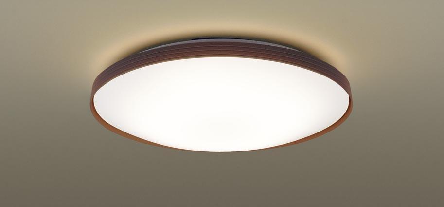 【最安値挑戦中!最大25倍】パナソニック LGC31158 シーリングライト 天井直付型 LED(昼光色~電球色) リモコン調光・調色 カチットF ~8畳 ダークブラウン