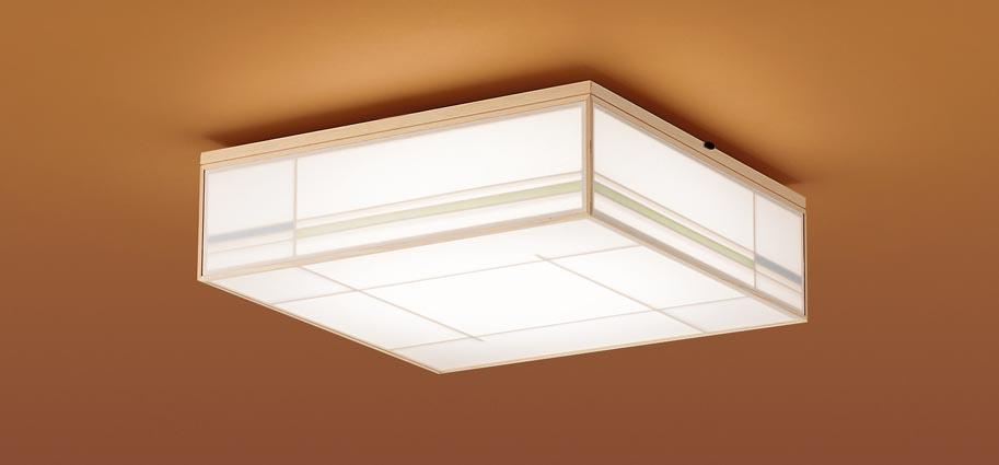 【最安値挑戦中!最大25倍】パナソニック LGC35801 和風シーリングライト 天井直付型 LED(昼光色~電球色) リモコン調光・調色 カチットF ~8畳 白木枠