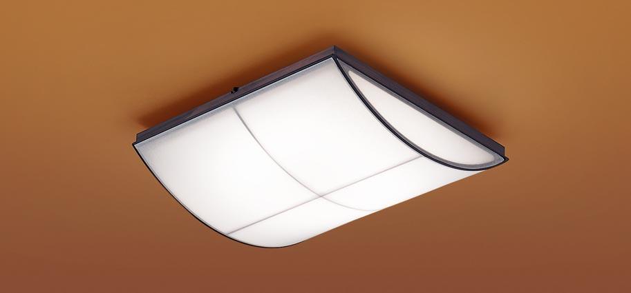 【最安値挑戦中!最大25倍】パナソニック LGC35809 和風シーリングライト 天井直付型 LED(昼光色~電球色) リモコン調光・調色 カチットF ~8畳 木製枠 墨色仕上