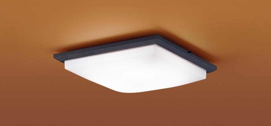 【最安値挑戦中!最大25倍】パナソニック LGC35814 和風シーリングライト 天井直付型 LED(昼光色~電球色) リモコン調光・調色 カチットF ~8畳 木製枠 ダークブラウン