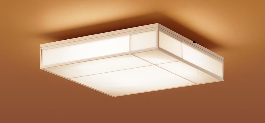 【最安値挑戦中!最大25倍】パナソニック LGC45800 和風シーリングライト 天井直付型 LED(昼光色~電球色) リモコン調光・調色 カチットF ~10畳 白木枠