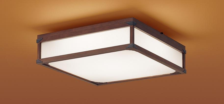【最安値挑戦中!最大25倍】パナソニック LGC45803 和風シーリングライト 天井直付型 LED(昼光色~電球色) リモコン調光・調色 カチットF パネル付型 ~10畳 木製枠 ダークブラウン