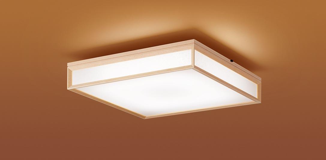 【最安値挑戦中!最大25倍】パナソニック LGC55804 和風シーリングライト 天井直付型 LED(昼光色~電球色) リモコン調光・調色 カチットF パネル付型 ~12畳 白木枠