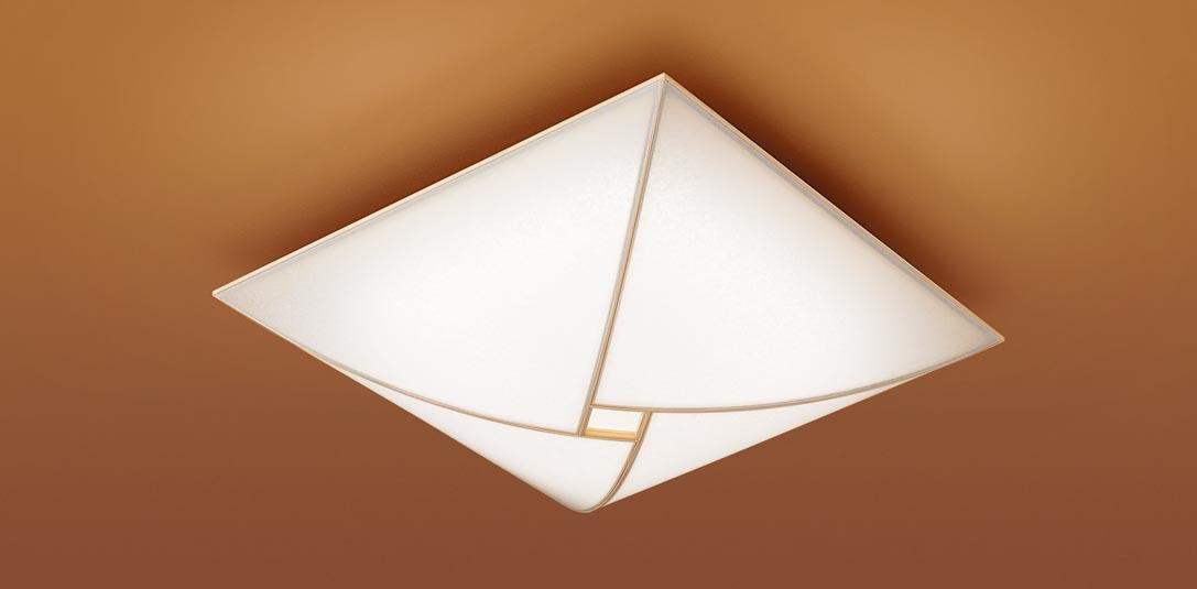 【最安値挑戦中!最大25倍】パナソニック LGC55808 和風シーリングライト 天井直付型 LED(昼光色~電球色) リモコン調光・調色 カチットF ~12畳 白木枠