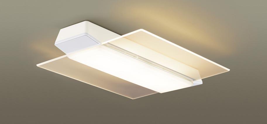 【最安値挑戦中!最大25倍】パナソニック LGC58201 シーリングライト 天井直付型 LED(昼光色~電球色) リモコン調光・調色 カチットF パネル付型 ~12畳 ホワイト