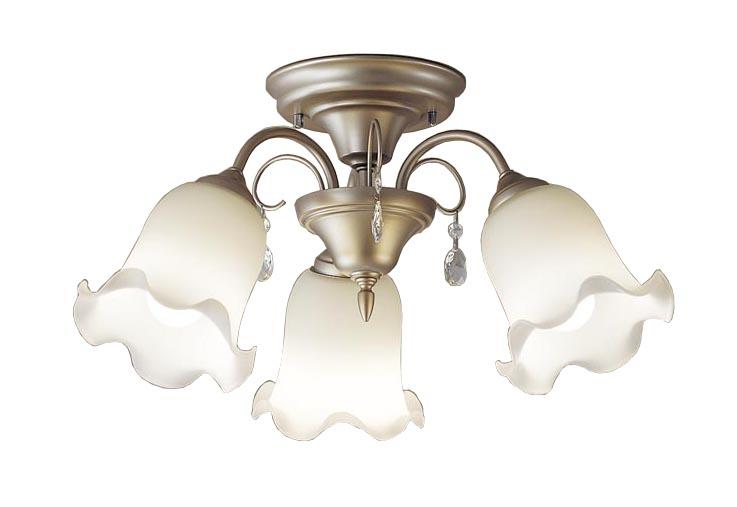 【最安値挑戦中!最大24倍】パナソニック LGB57342K 小型シャンデリア Uライト方式吊下型 LED(電球色) 白熱電球60形3灯器具相当 ゴールド ~4.5畳 [∀∽]
