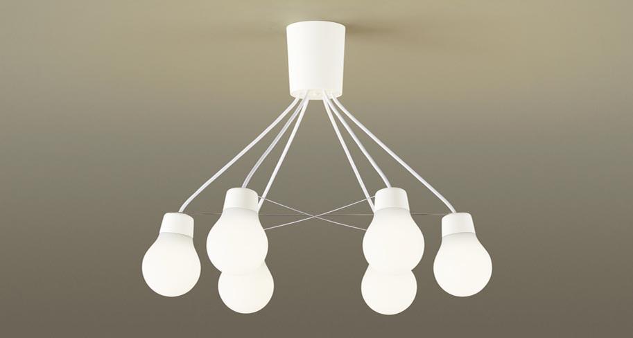 【最大44倍お買い物マラソン】パナソニック LGB57628WCE1 シャンデリア 吊下型 LED(電球色) シャンデリア 拡散 引掛シーリング方式 白熱電球60形6灯器具相当 ~6畳 ホワイト