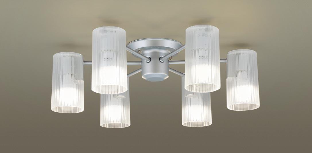 【最安値挑戦中!最大34倍】パナソニック LGB57673K シャンデリア 天井直付型LED(電球色) 60形電球6灯器具相当 透明 [∀∽]