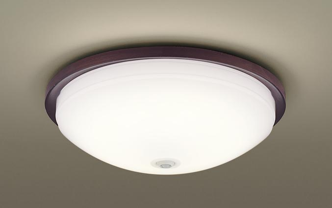 【最安値挑戦中!最大25倍】パナソニック LGBC81043LE1 小型シーリング 天井直付型 LED(電球色) 拡散 FreePa・ON/OFF型・明るさセンサ付 ウォールナット調