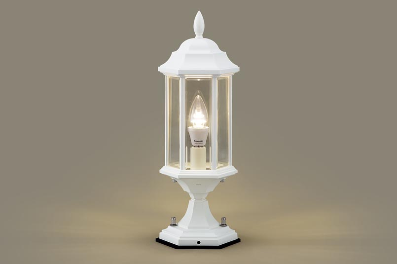 【最安値挑戦中!最大25倍】照明器具 パナソニック LGW56905W 門柱灯 据置取付型 LED 電球色 40形電球1灯相当 防雨型