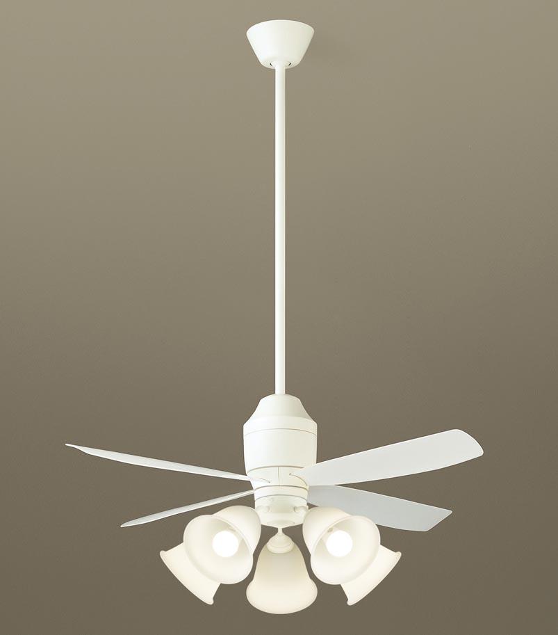 【最安値挑戦中!最大24倍】パナソニック XS72241 シーリングファン 直付吊下型 LED(電球色) 照明器具付 100形電球5灯相当・12W ~14畳 ランプ同梱包 [∽]