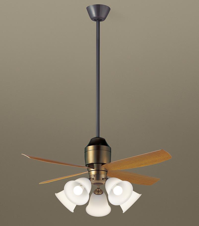 【最安値挑戦中!最大25倍】パナソニック XS73142 シーリングファン 直付吊下型 LED(電球色) 照明器具付 100形電球5灯相当・12W ~14畳 ランプ同梱包