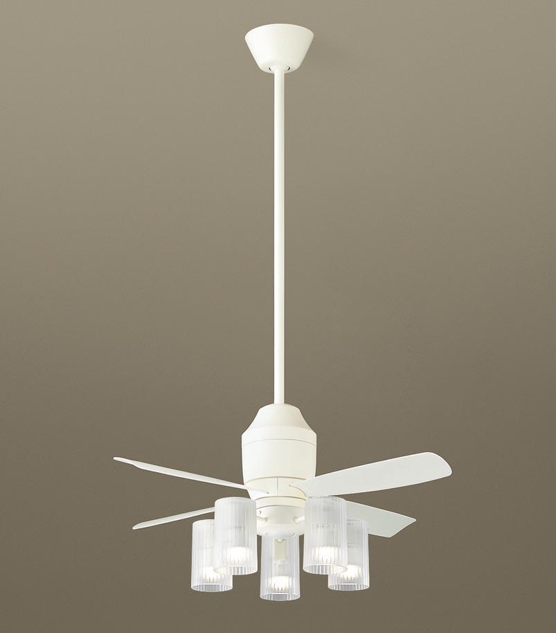 【最安値挑戦中!最大34倍】パナソニック XS75112Z シーリングファン(照明器具付) 直付吊下型 LED(電球色) 5W 60形5灯 ~10畳 パイプ長さ900mm [∽]
