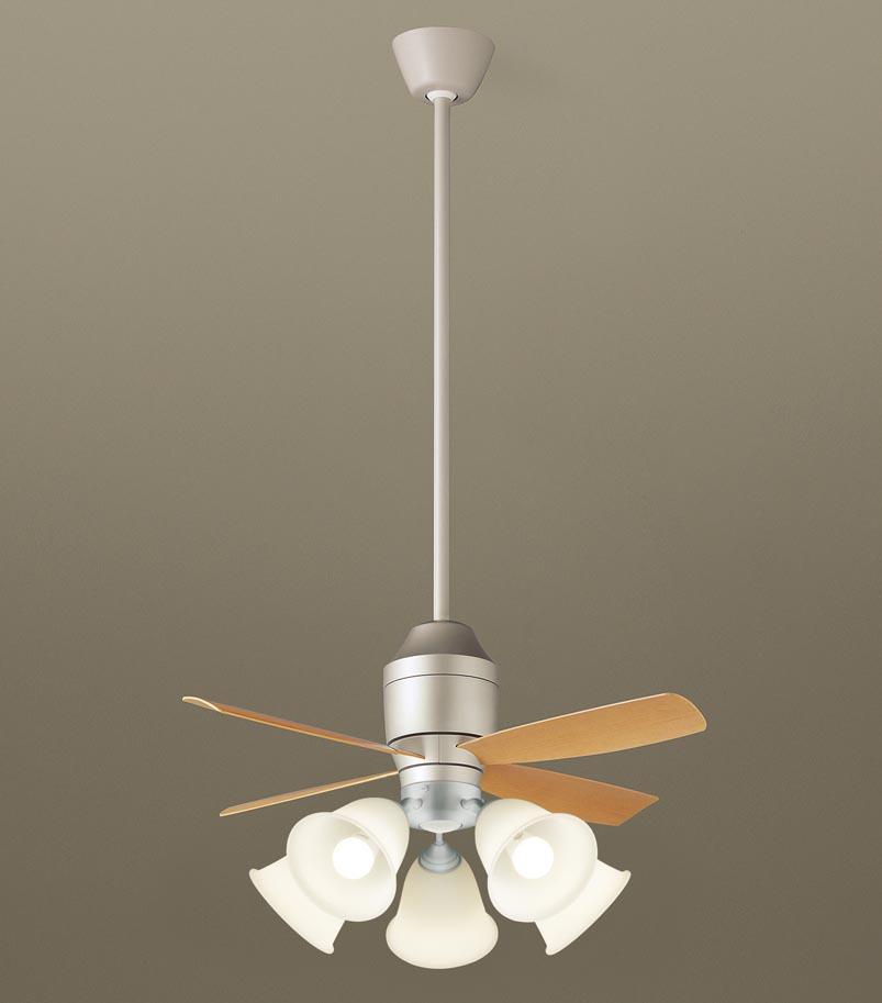 【最安値挑戦中!最大25倍】パナソニック XS77141 シーリングファン 直付吊下型 LED(電球色) 照明器具付 100形電球5灯相当・5W ~14畳 ランプ同梱包