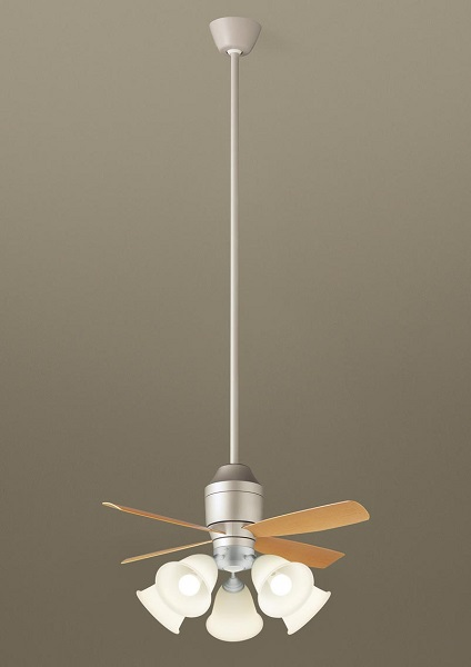 【最安値挑戦中!最大25倍】パナソニック XS77541 シーリングファン 直付吊下型 LED(電球色) 照明器具付 100形電球5灯相当・5W ~14畳 ランプ同梱包