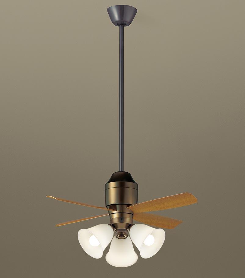 【最安値挑戦中!最大25倍】パナソニック XS78145 シーリングファン 直付吊下型 LED(電球色) 照明器具付 100形電球3灯相当・5W ~8畳 ランプ同梱包