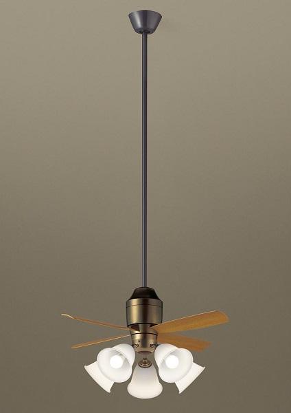 【最安値挑戦中!最大34倍】パナソニック XS78542 シーリングファン 直付吊下型 LED(電球色) 照明器具付 100形電球5灯相当・5W ~14畳 ランプ同梱包 [∽]