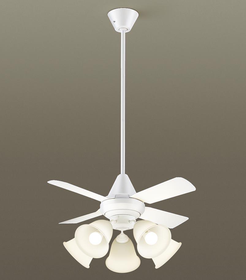【最安値挑戦中!最大25倍】パナソニック XS95140 シーリングファン 直付吊下型 LED(電球色) 照明器具付 100形電球5灯相当・13W ~14畳 ランプ同梱包