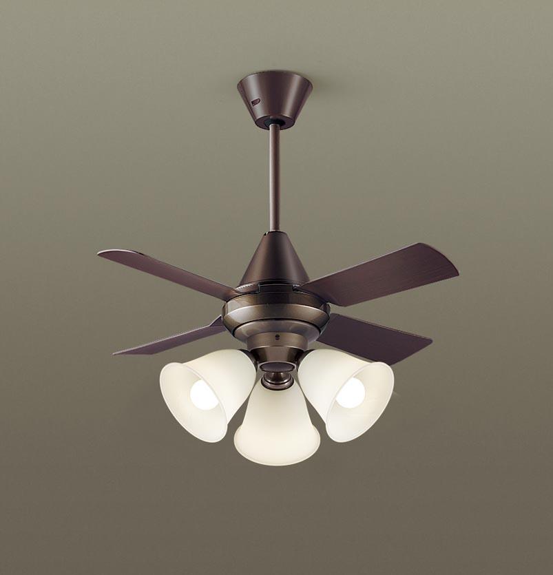 【最安値挑戦中!最大25倍】パナソニック XS97045 シーリングファン 直付吊下型 LED(電球色) 照明器具付 100形電球3灯相当・13W ~8畳 ランプ同梱包
