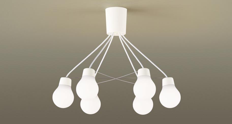 【最大44倍お買い物マラソン】パナソニック LGB57629WCE1 シャンデリア 吊下型 LED(温白色) シャンデリア 拡散 引掛シーリング方式 白熱電球60形6灯器具相当 ~6畳 ホワイト