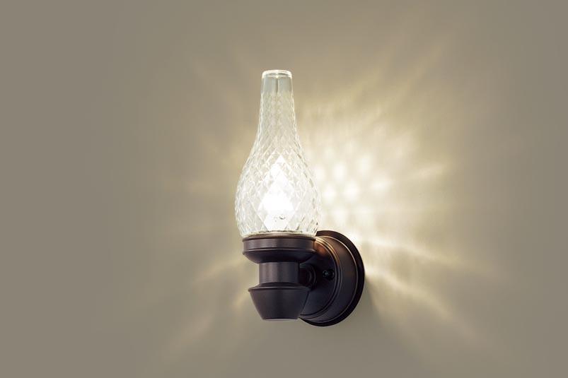 【最安値挑戦中!最大34倍】パナソニック LGW85210K ポーチライト 壁直付型 LED(電球色) 40形電球1灯器具相当・密閉型 防雨型 ダークブラウンメタリック [∀∽]