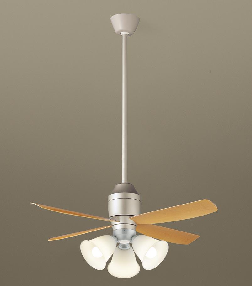 【最安値挑戦中!最大25倍】パナソニック XS72144 シーリングファン 直付吊下型 LED(電球色) 照明器具付 100形電球3灯相当・12W ~8畳 ランプ同梱包