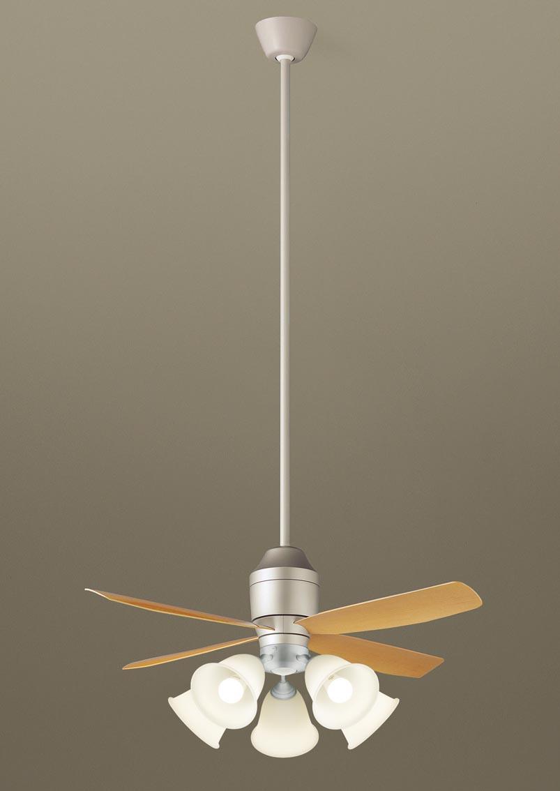 【最安値挑戦中!最大24倍】パナソニック XS72541 シーリングファン 直付吊下型 LED(電球色) 照明器具付 100形電球5灯相当・12W ~14畳 ランプ同梱包 [∽]