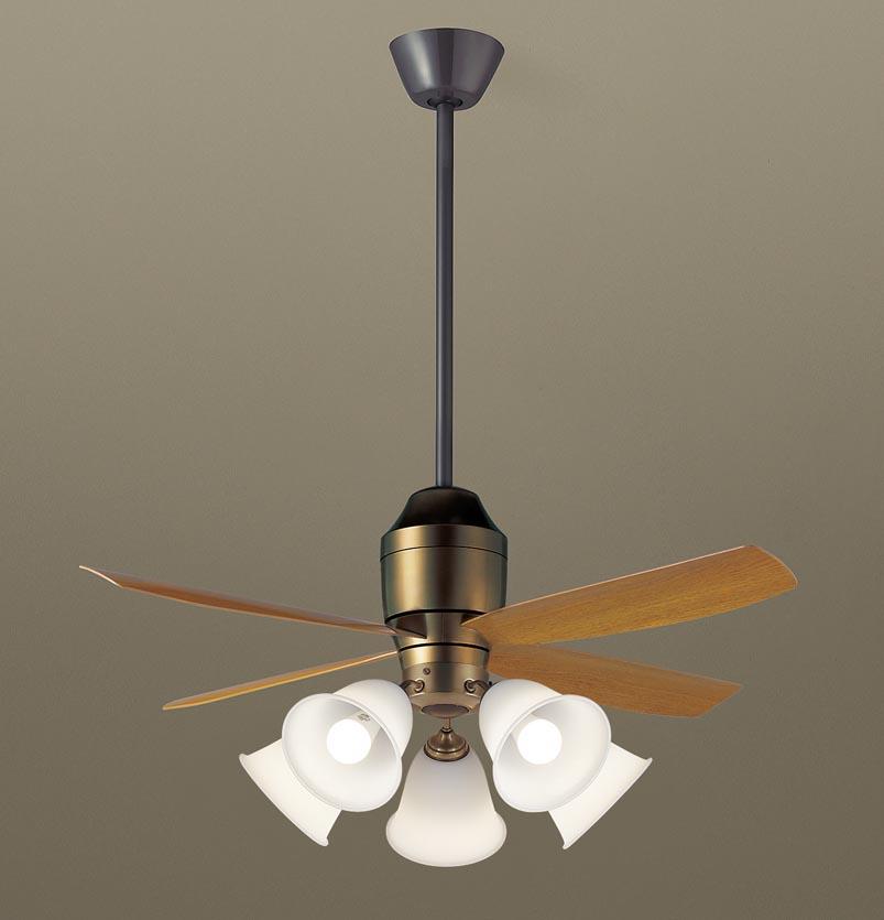 【最安値挑戦中!最大25倍】パナソニック XS73242 シーリングファン 直付吊下型 LED(電球色) 照明器具付 100形電球5灯相当・12W ~14畳 ランプ同梱包