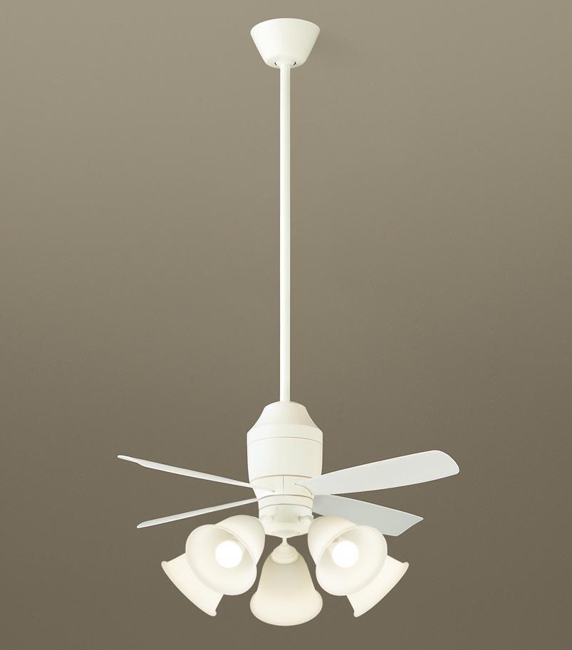 【最安値挑戦中!最大34倍】パナソニック XS75140 シーリングファン 直付吊下型 LED(電球色) 照明器具付 100形電球5灯相当・5W ~14畳 ランプ同梱包 [∽]