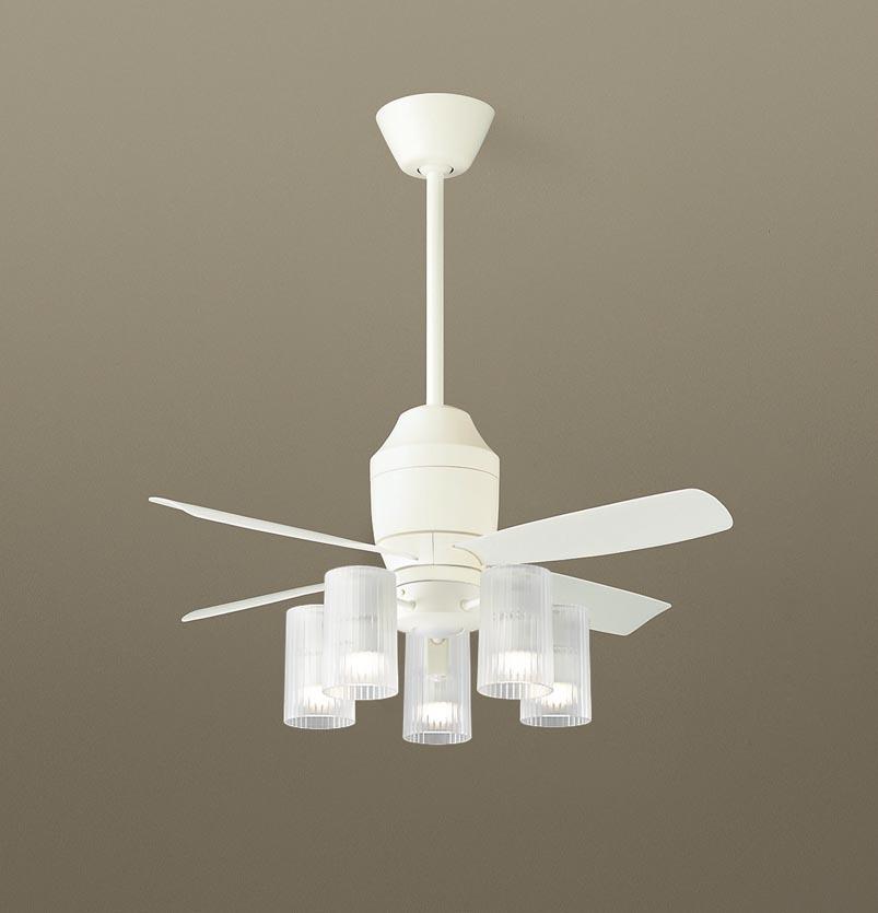 【最安値挑戦中!最大25倍】パナソニック XS75312Z シーリングファン(照明器具付) 直付吊下型 LED(電球色) 5W 60形5灯 ~10畳 パイプ長さ360mm