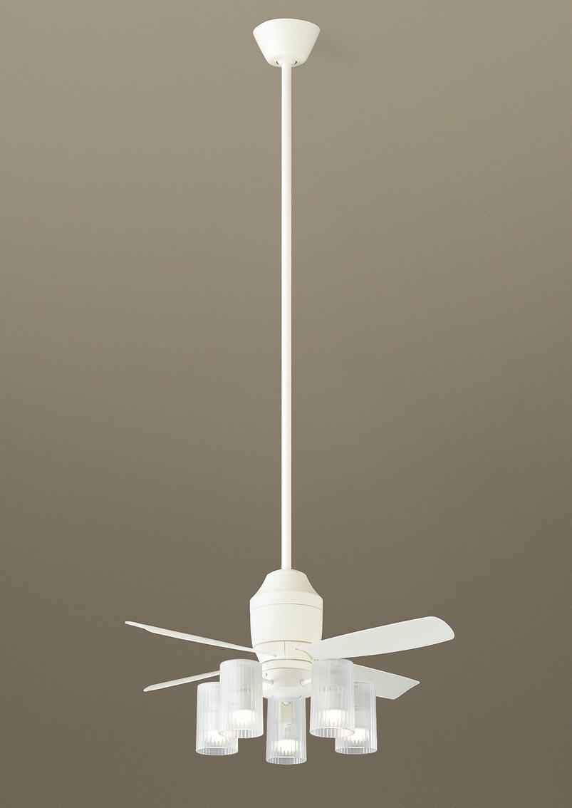 【最安値挑戦中!最大34倍】パナソニック XS75512Z シーリングファン(照明器具付) 直付吊下型 LED(電球色) 5W 60形5灯 ~10畳 パイプ長さ1500mm [∽]